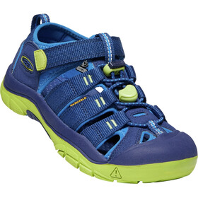 Keen Newport H2 Sandals Youth, blue depths/chartreuse